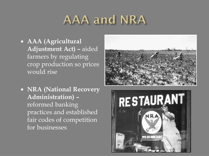 AAA and NRA