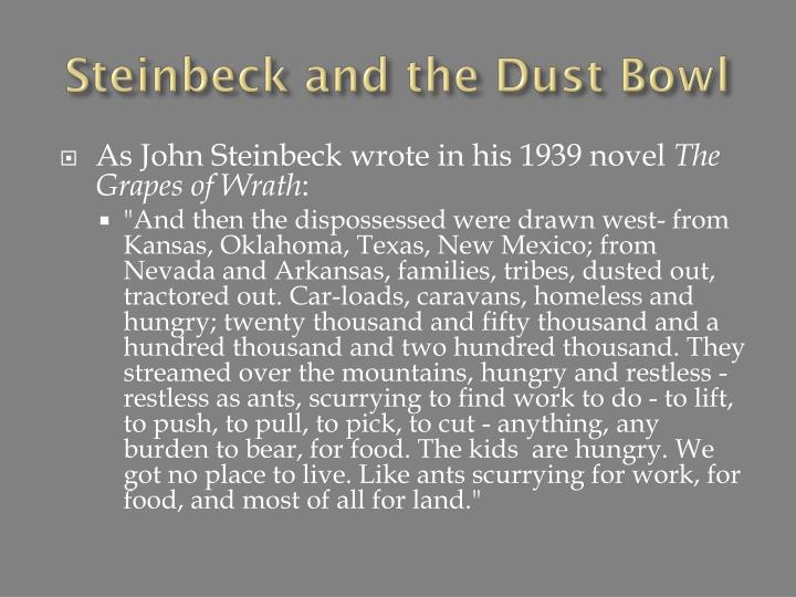 Steinbeck and the Dust Bowl