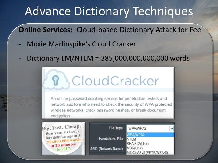 Advance Dictionary Techniques