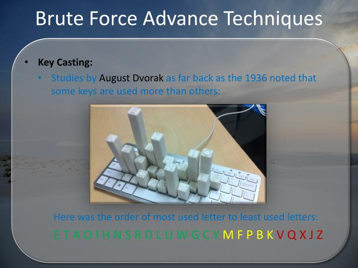 Brute Force Advance Techniques