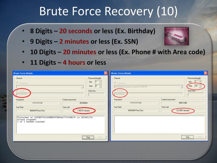 Brute Force Recovery (10)