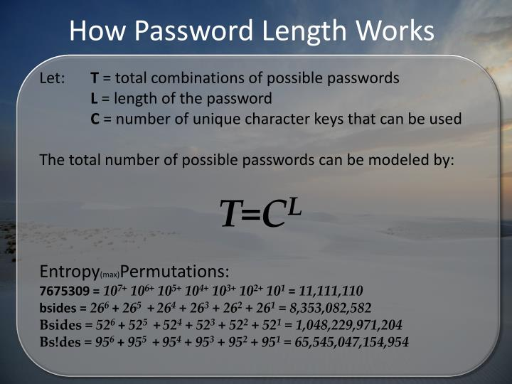How Password Length Works