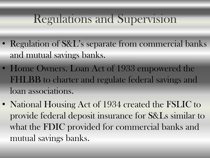 Regulations and Supervision