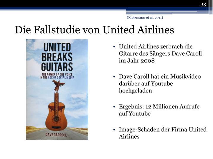 United Airlines zerbrach die Gitarre des Sängers Dave Caroll im Jahr 2008