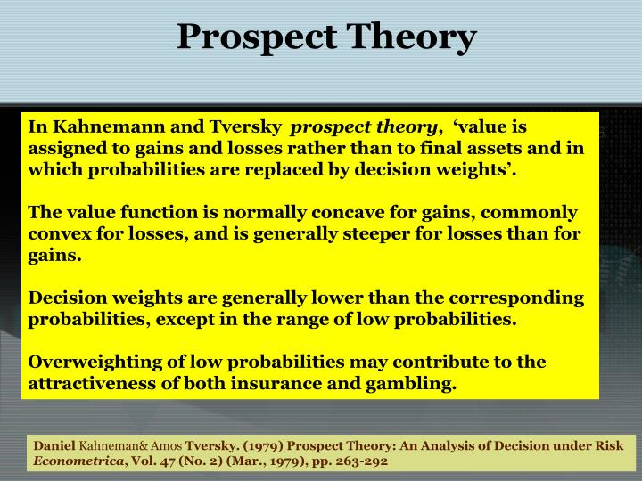 prospect theory Quizlet provides prospect theory activities, flashcards and games start learning today for free.