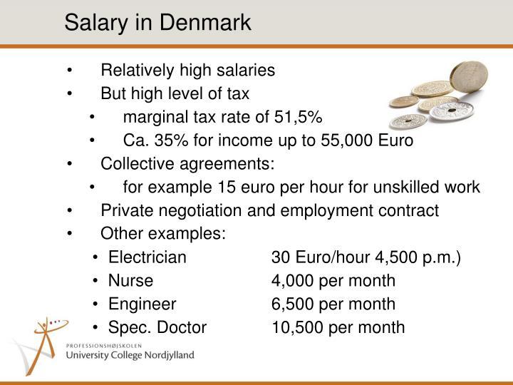 Salary in Denmark