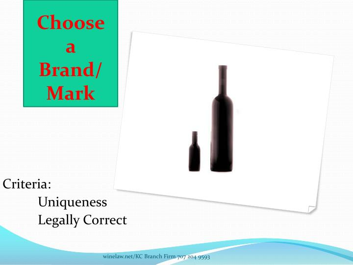 Choose a brand mark