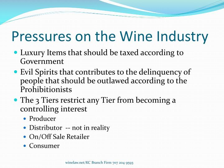 Pressures on the wine industry
