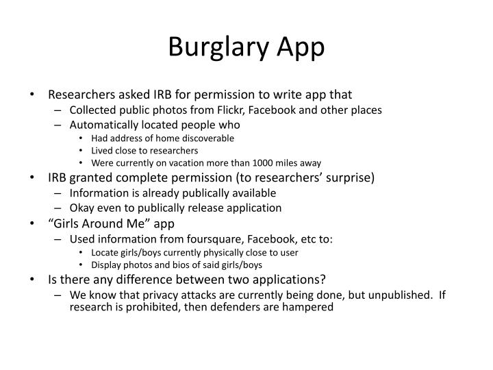 Burglary App