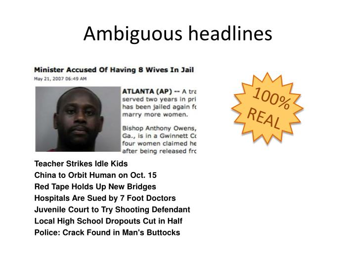 Ambiguous headlines