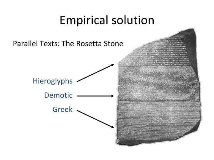 Empirical solution