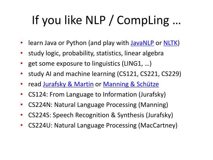 If you like NLP /