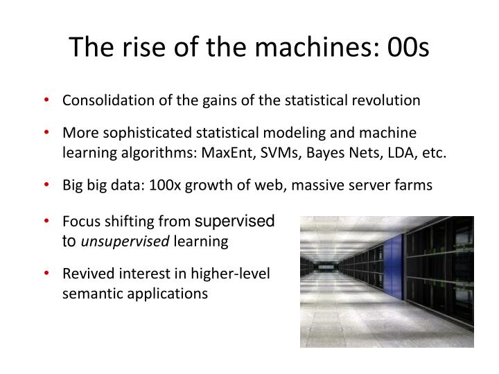 The rise of the machines: 00s