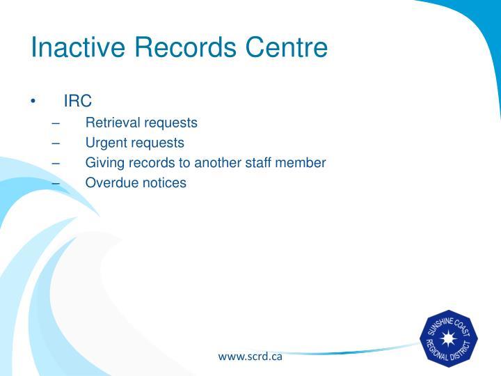 Inactive Records Centre