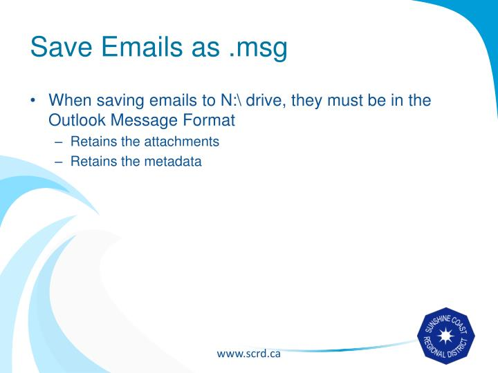 Save Emails as .