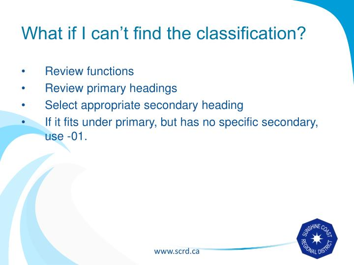 What if I can't find the classification?