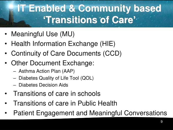 IT Enabled & Community based