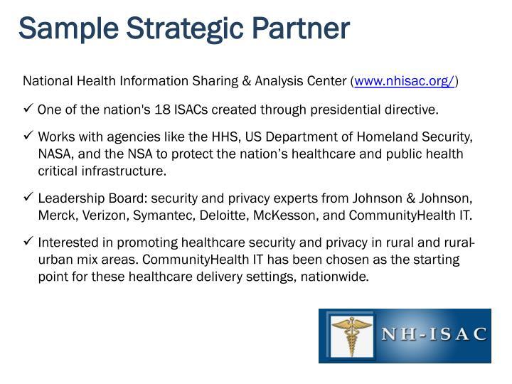 Sample Strategic Partner