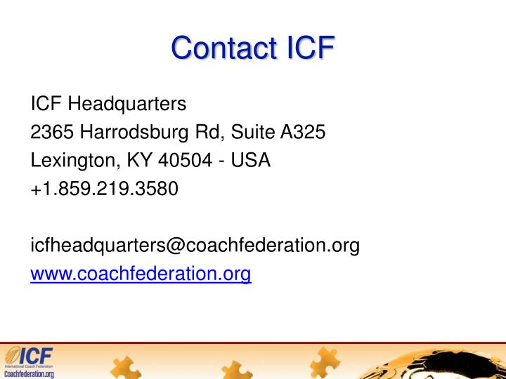 Contact ICF