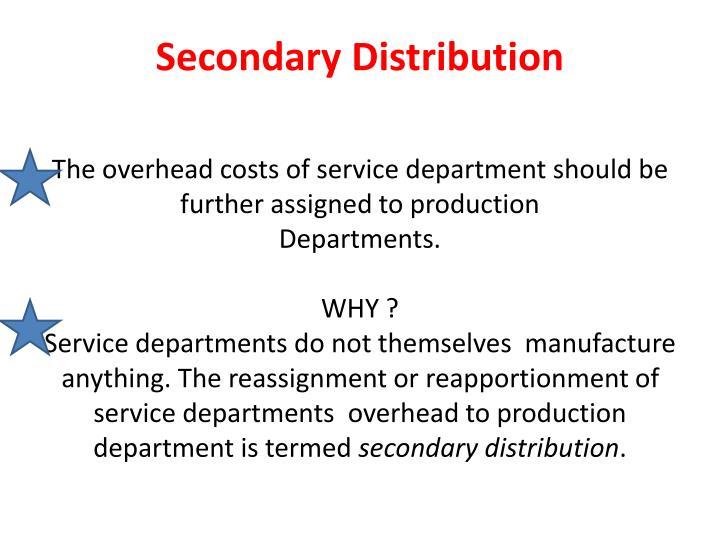 Secondary Distribution