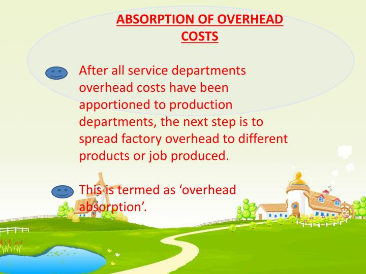 ABSORPTION OF OVERHEAD COSTS