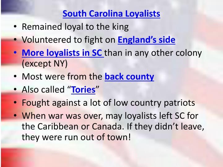South Carolina Loyalists