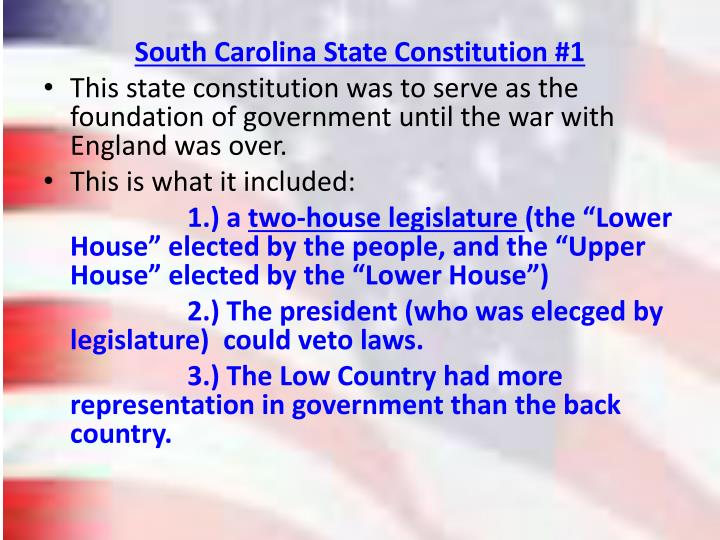 South Carolina State Constitution #1