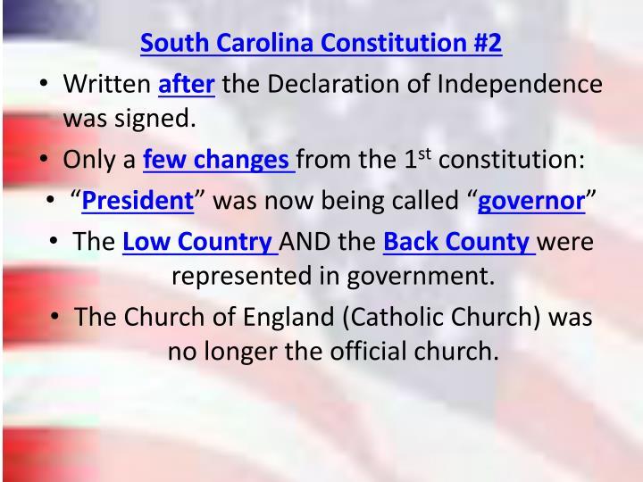 South Carolina Constitution #2