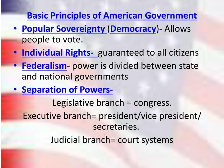 Basic Principles of American Government