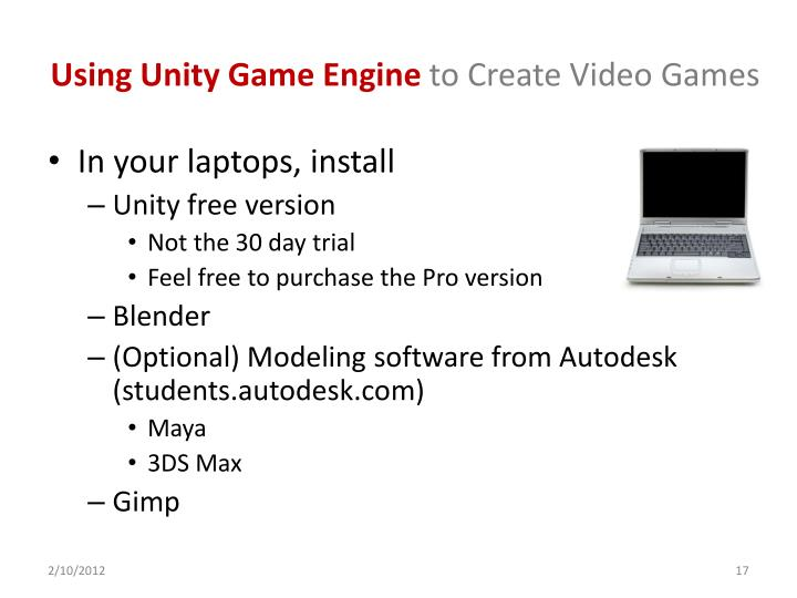 Using Unity Game Engine