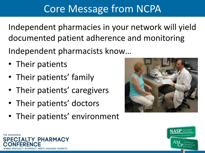 Core Message from NCPA