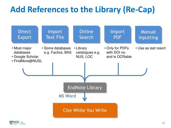 Add References to the Library (Re-Cap)