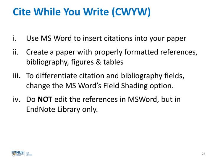 Cite While You Write (CWYW)