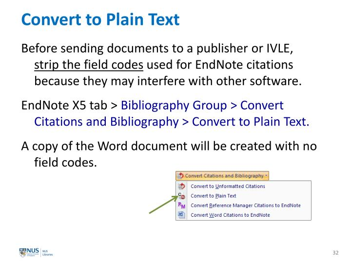 Convert to Plain Text