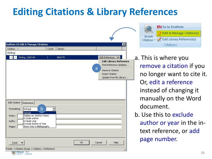 Editing Citations & Library References