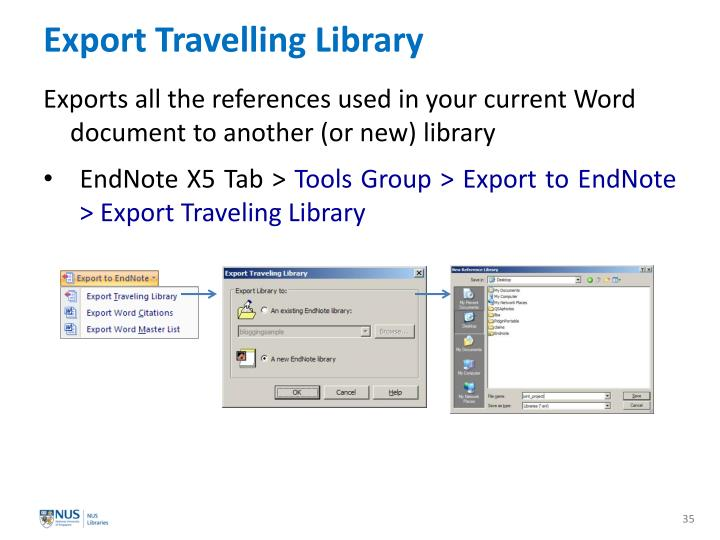 Export Travelling Library