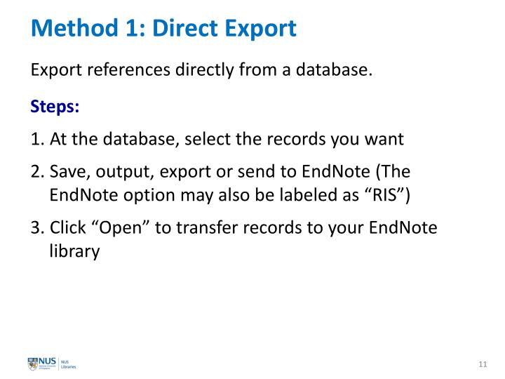 Method 1: Direct Export