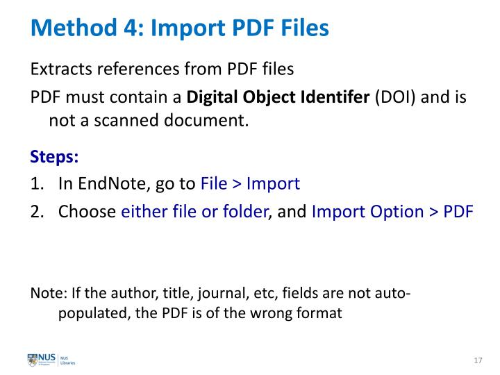 Method 4: Import PDF Files