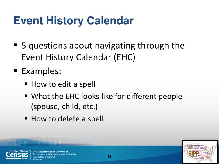 Event History Calendar
