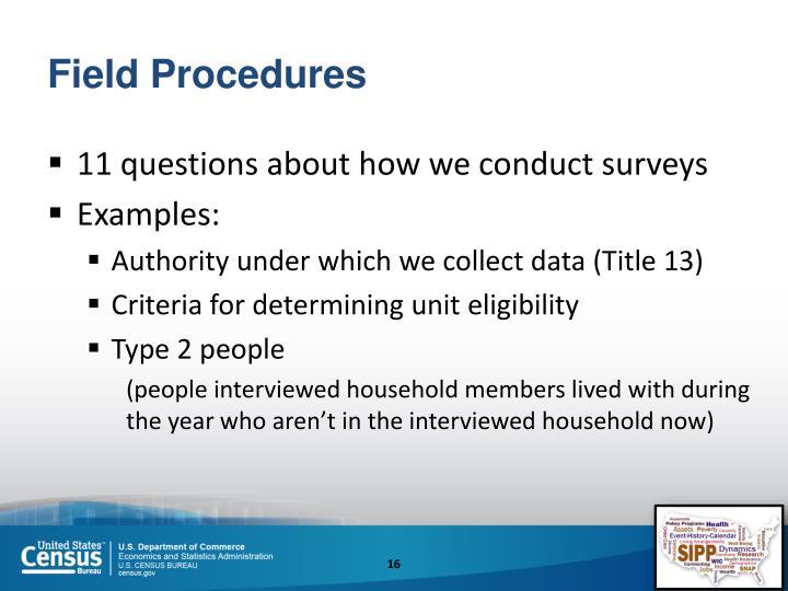 Field Procedures
