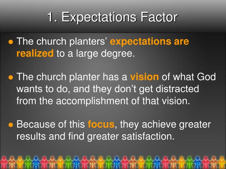 1. Expectations Factor