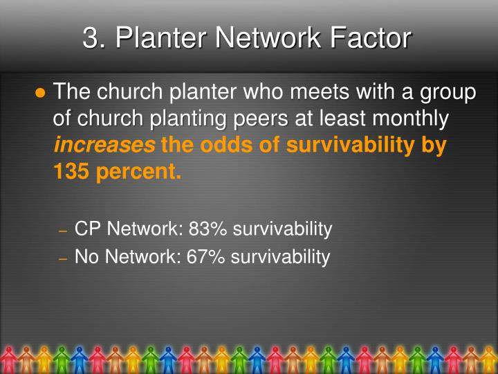 3. Planter Network Factor