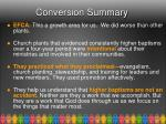 conversion summary