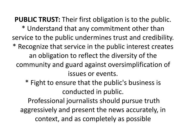 PUBLIC TRUST:
