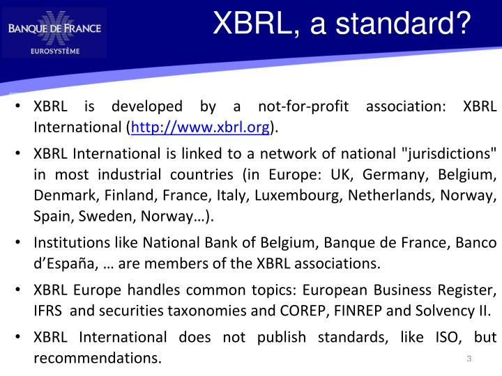 XBRL, a standard?