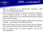 xbrl a standard