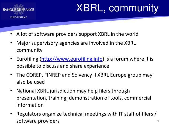 XBRL, community