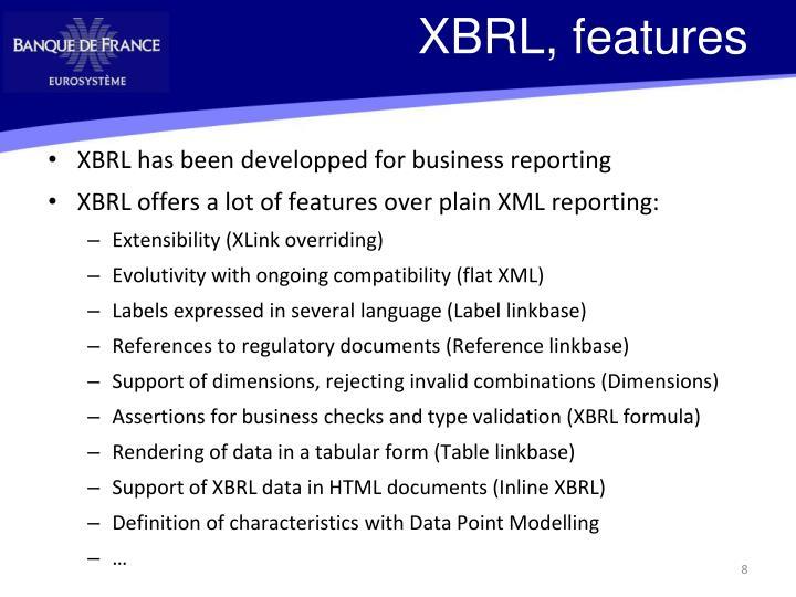 XBRL, features