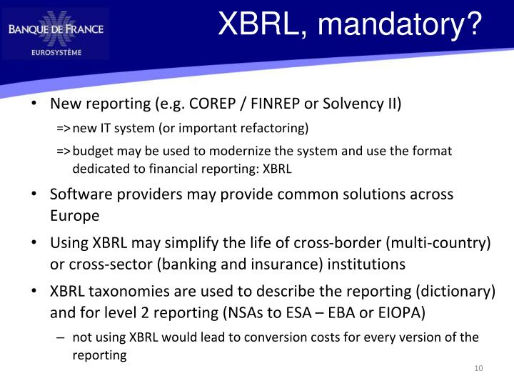 XBRL, mandatory?