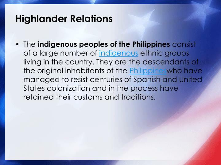 Highlander Relations
